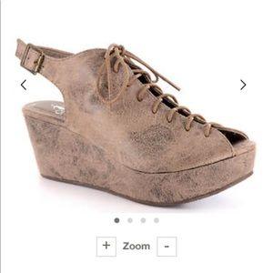 Shoes - Corky's lace up wedges! Size 9! Super comfy!!!